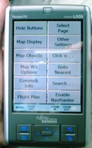 THe menu of PocketFMS
