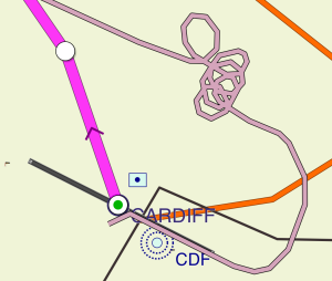 GPS track of hold