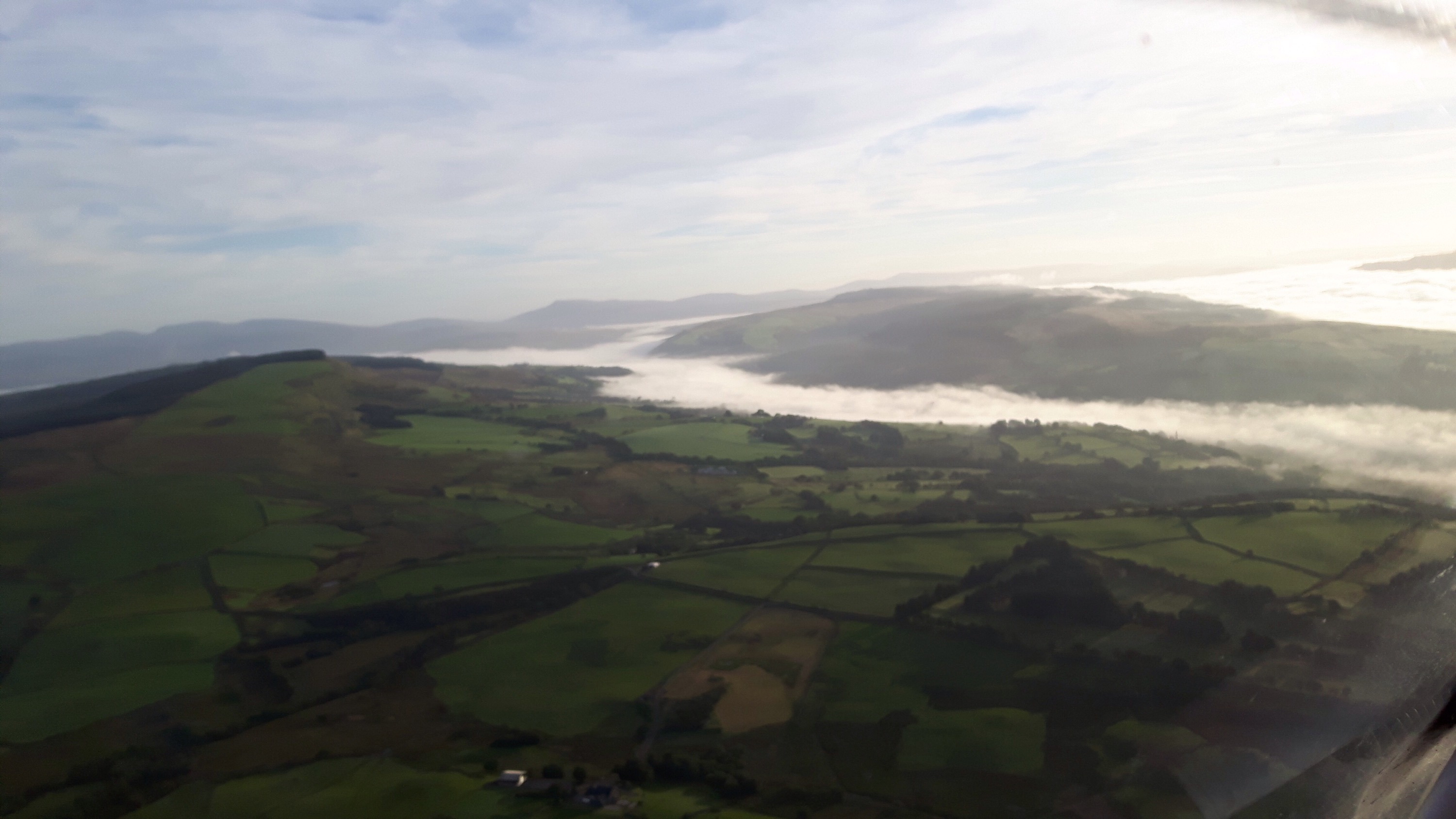 Mist in Swansea and Neath valleys