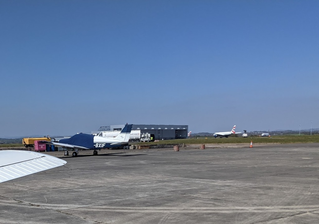Cardiff Airport, taken from the flying club